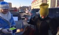 Новогодняя акция красноярского полка ДПС