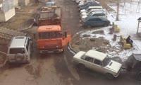 Самоуправство водителя мусоровоза