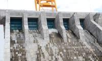 На Богучанской ГЭС испытали водосброс