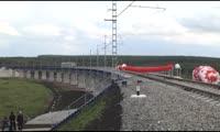 Открытие движения по новой железнодорожной линии Авда-Громадская