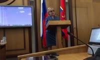 Выступление кандидата в председатели Красноярского городского Совета депутатов Т.И. Казановой
