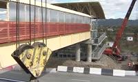 В Хакасии на безлюдном участке трассы появится надземный переход