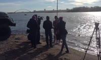 Моржи проплыли 3 км по Оби и поздравили В. В. Путина с днем рождения