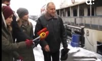 Корабль-ресторан сгорел в центре Красноярка