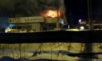Пожар в здании ГИБДД в Лесосибирске