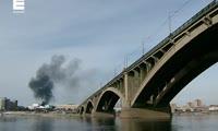 Пожар в Красноярске на ул. Островского, 3