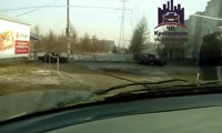 Перекрёсток улиц Курчатова и 2-я Хабаровская