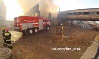 Пожар в мебельном цехе на ул. Томской