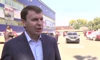 Вице-премьер Виктор Зубарев в Шушенском магазине Светофор