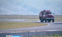 Красноярские пожарные устроили состязания на гоночной трассе