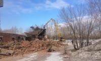 В Красноярске начался снос стадиона Енисей
