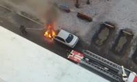 Возгорание автомобиля на ул. Королева