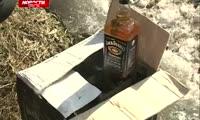 Коробку с сомнительным виски нашел красноярец около гаража