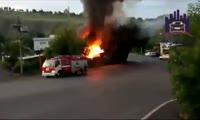 Пожар в центре Красноярска