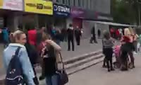 Эвакуация посетителей ТЦ «Красноярье»