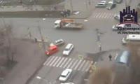В центре Красноярска произошло 2 ДТП
