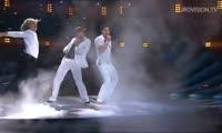 Победное выступление на Евровидении-2008 фигуриста Евгения Плющенко и певца Димы Билана