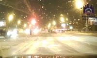 Странный пешеход на правобережье Красноярска