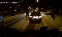 Конфликт водителей на правобережье