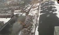 Снос цехов Комбайнового завода в Красноярске, 23 марта 2018