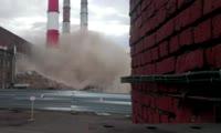 Взрыв трубы ТЭЦ-1, вид со смотровой площадки