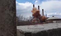 Неудачный взрыв попал на видео