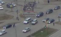 Наезд на пешехода на перекрестке улиц 9 Мая и Водопьянова