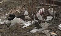 Свалка возле домов на пр. Металлургов