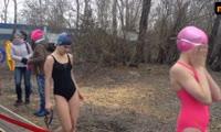 Ледяные заплывы Красноярская миля Победы