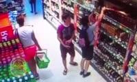 Момент похищения алкоголя попал на камеру наблюдения