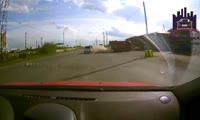 ДТП попало на регистратор одного из водителей