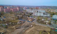 КрУДор показал полет над строящейся улицей Волочаевской