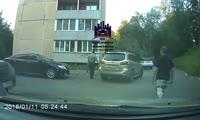 Избиение на парковке в Железногорске