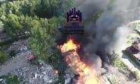 Начало пожара на Свердловской