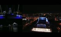 Динамическая подсветка на Вантовом мосту и БКЗ