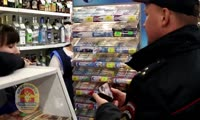 Рейд красноярской полиции по алкогольным ларькам