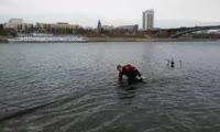 Завершение работы водолазов по консервации речных фонтанов в Красноярске