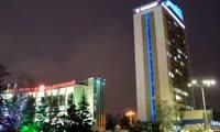 Подсветка на здании Речного пароходства