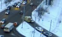 Авария на улице Гусарова