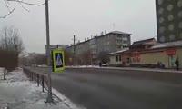 Пешеходный переход на Судостроительной в Красноярске
