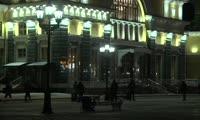 В Красноярске протестировали обновлённую подсветку железнодорожного вокзала