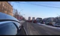 Уборка дорог в Красноярске под музыку из «Звёздных войн»