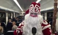 Волшебный светящийся поезд Красноярской железной дороги