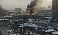 Пожар на улице Авиаторов