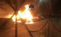 Внедорожник сгорел в красноярском Академгородке