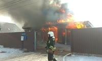 Пожар в Минино
