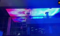 В Красноярске запустили свето-динамическую подсветку на Стрелке