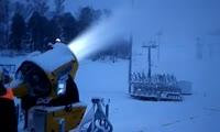Производство снега из водопроводной воды для трасс Универсиады