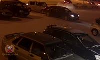 Авария на парковке в Ачинске