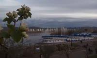 Фонтаны возле острова Посадный